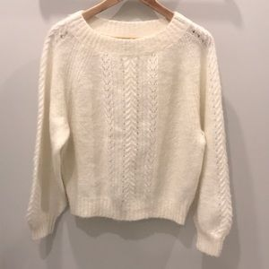 Point Sur from J.Crew Ivory Knot Sweater